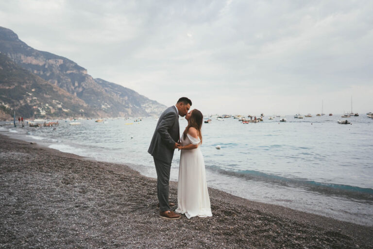 Jimmy and Kate's Engagement photos at Marina Grande beach in Positano